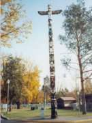 This totem tells the legend of Kelowna - you can see it in City Park